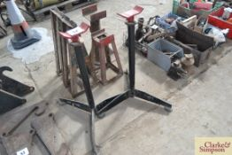 Pair of large stands.