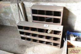 2x metal parts bins.