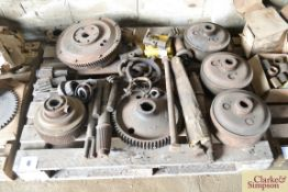 A quantity of Caterpillar D2 spares. To include steering clutches etc.NO VAT