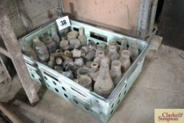 Large quantity of old glass bottles.