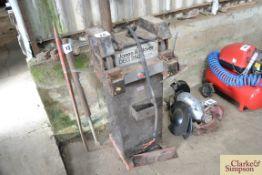 Jones & Clover pedestal bench grinder.