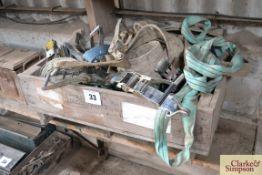 Large quantity of ratchet straps.