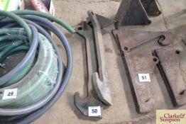 Pair of JCB Qfit weld-on brackets.