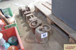 5x 56 lb weights