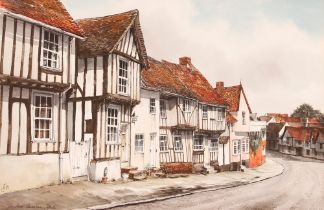 R Siger, study of The Street Lavenham, Suffolk, in