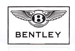 A cast iron Bentley sign