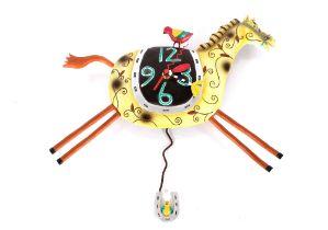 """An Allen Designs """"Horseplay"""" pendulum wall clock"""