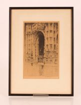 Harold Storey, pencil signed etching depicting Ca