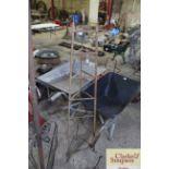 A wrought metal vintage saucepan stand
