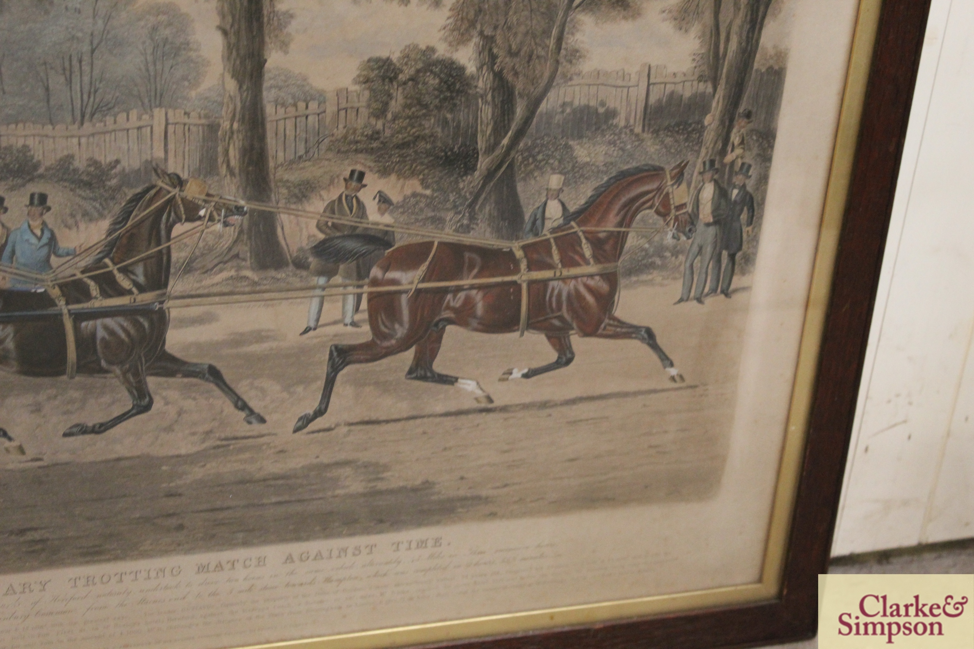 """A 19th Century lithograph """"Extraordinary Trotting - Image 5 of 6"""