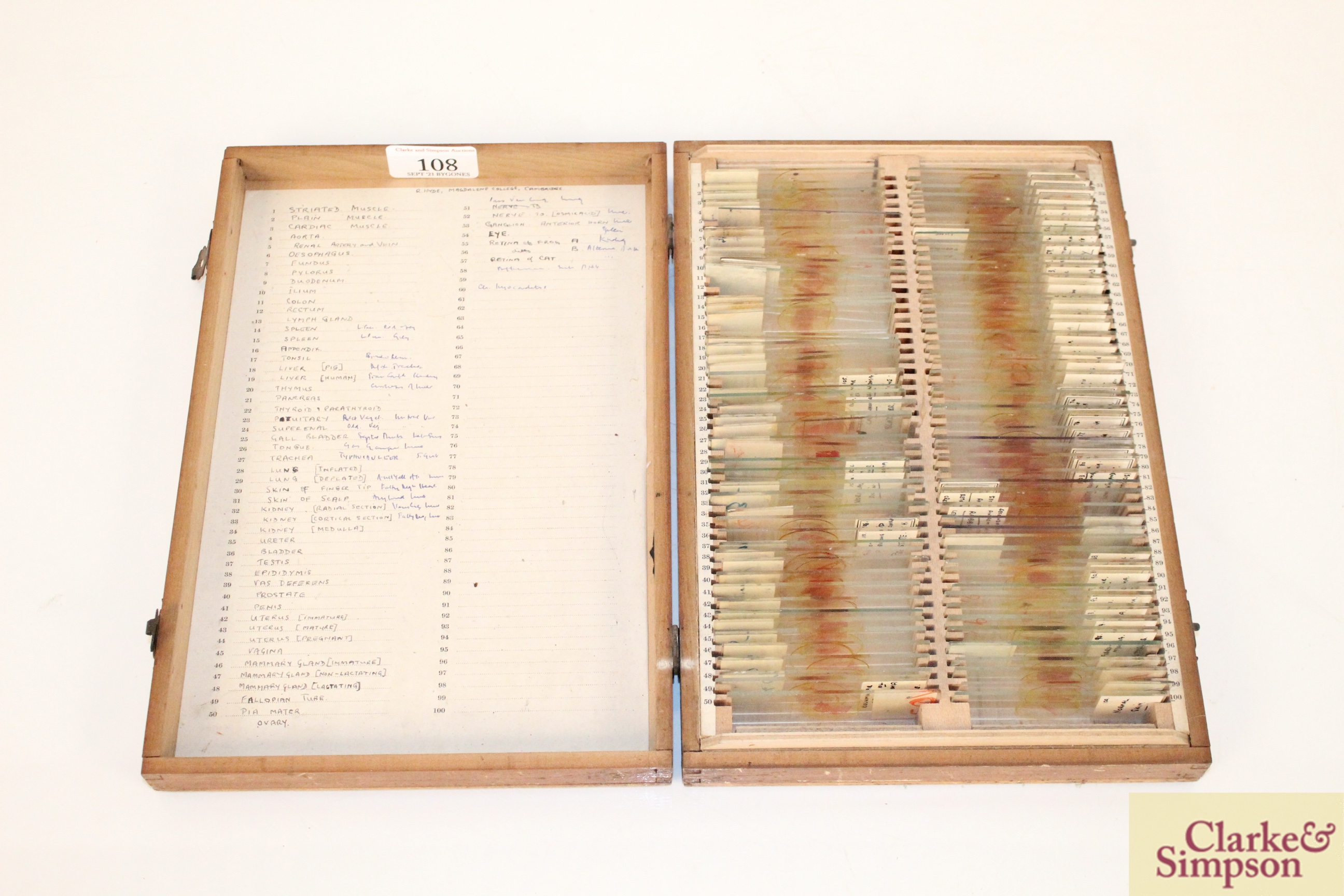 Three boxes of medical slides - Image 2 of 14