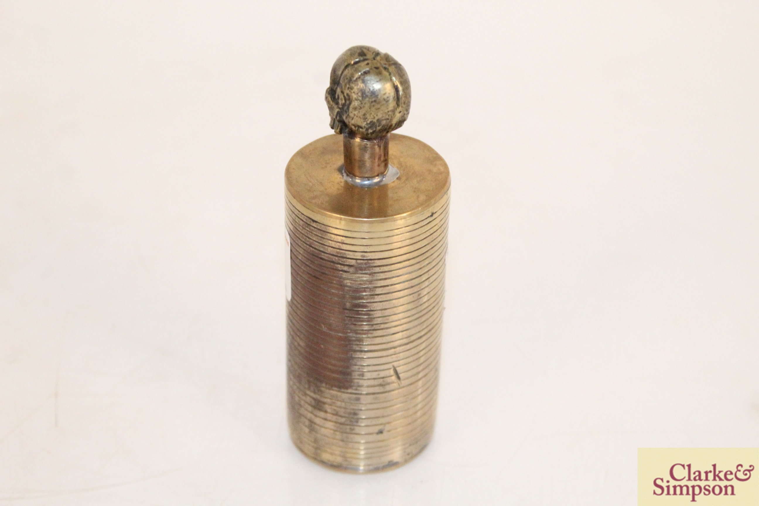 A brass Trench Art Poison bottle - Image 3 of 5