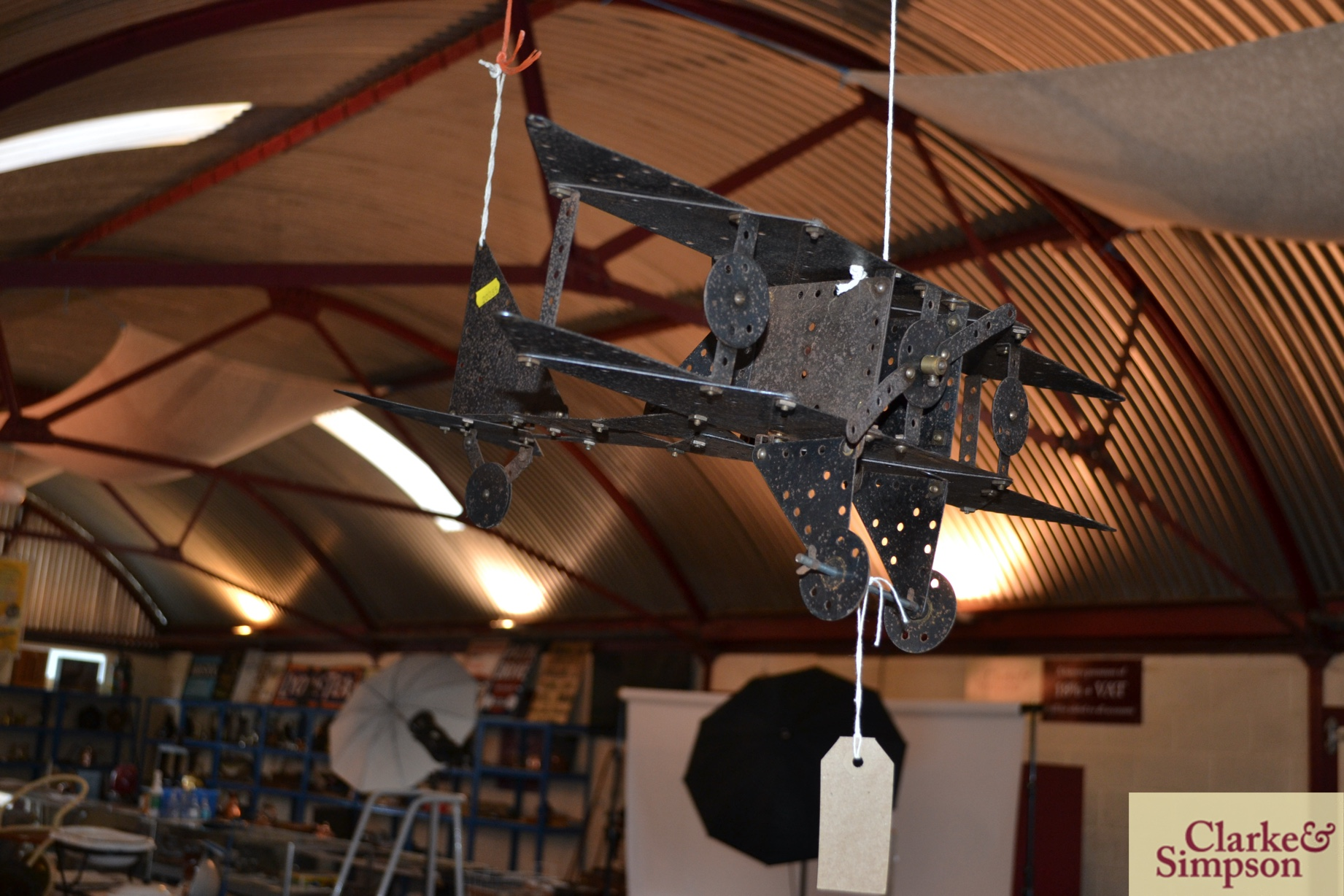 An early 20th Century kit form Meccano model of a