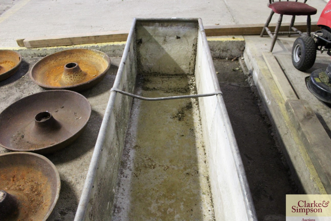 A large galvanised trough approx. 8' long x 3' dee - Image 4 of 4
