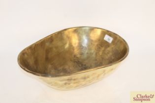 An antique brass Greengrocers scale bowl