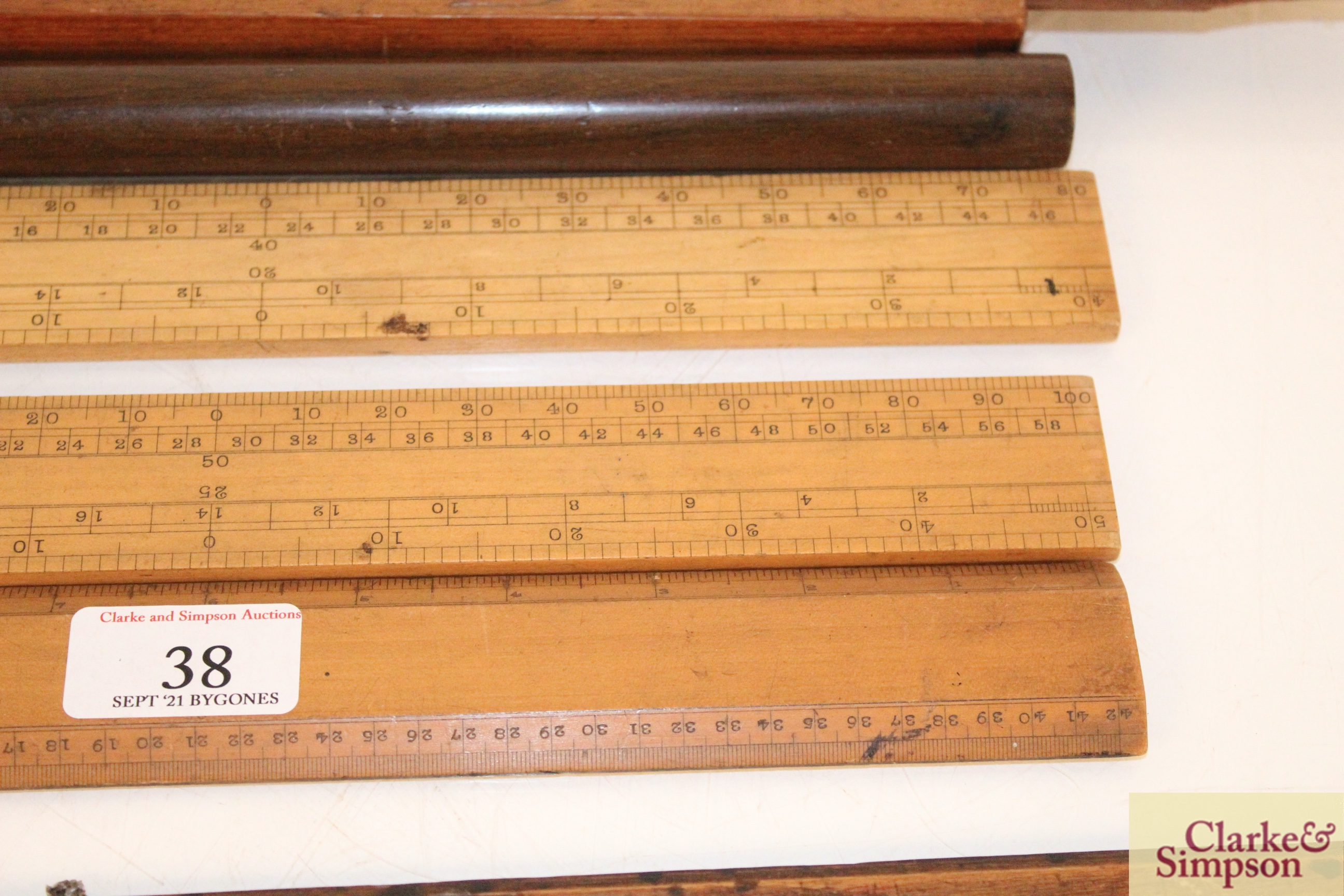 A quantity of various boxwood and other rules, inc - Image 8 of 11