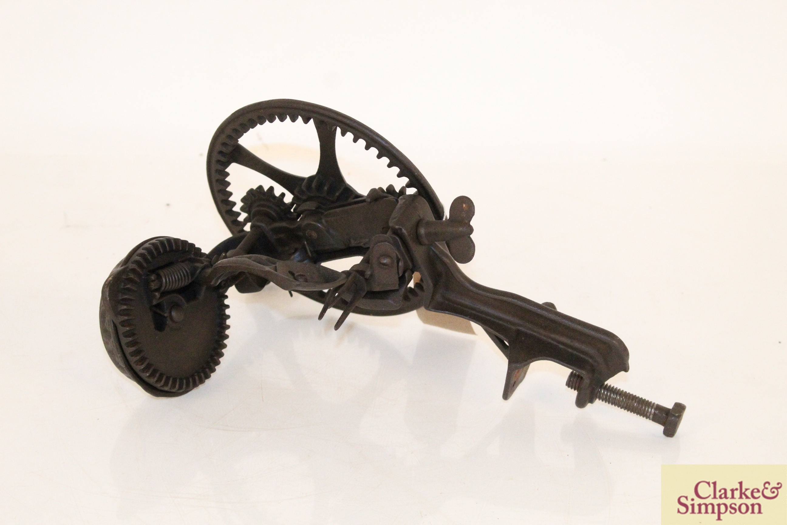 A cast iron apple peeler by The Reading Hardware C - Image 2 of 7