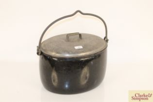 A Judge ware metal cooking pot with swing handle