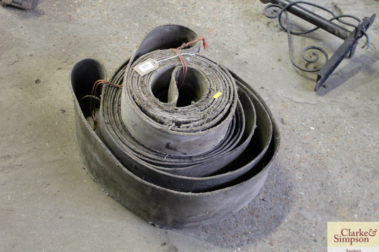 Two vintage flat pulley belts - Image 3 of 3