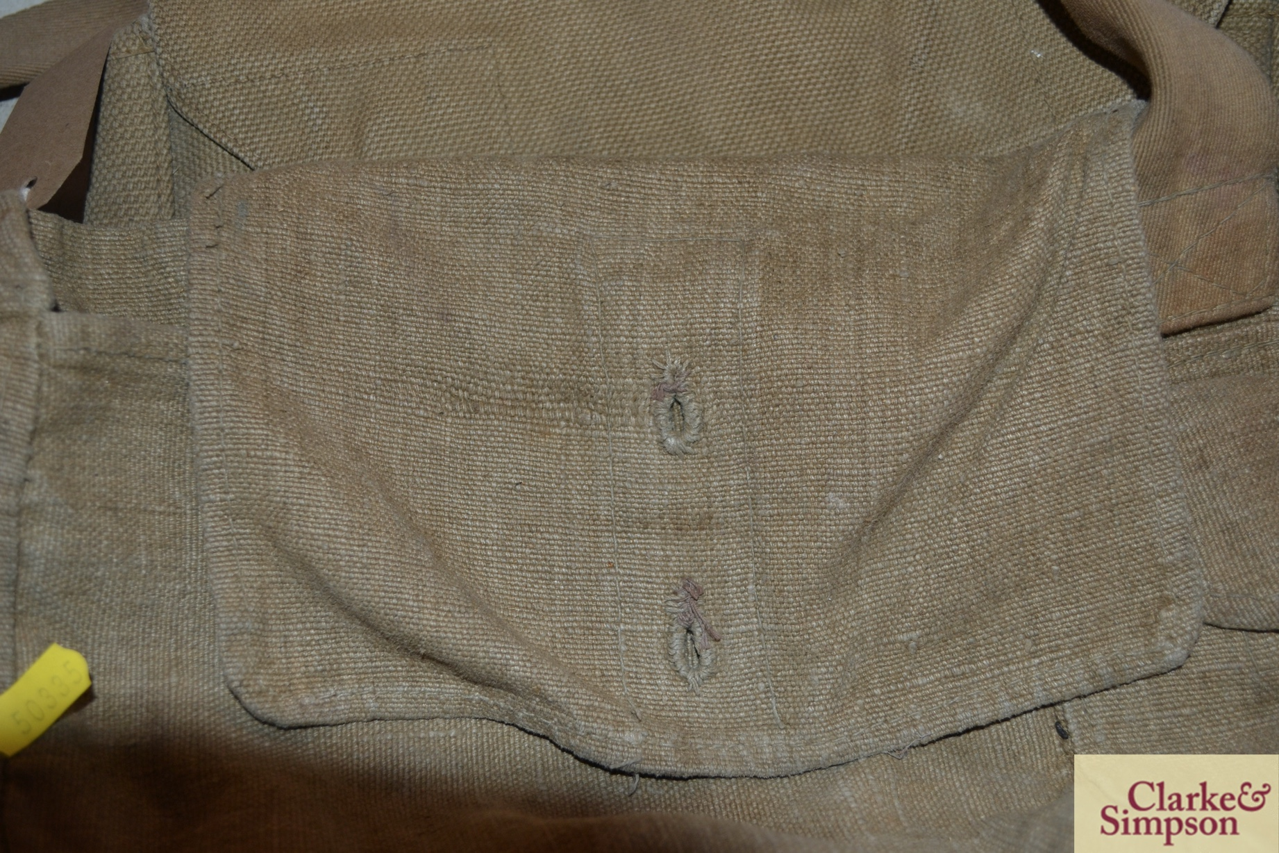 Two ex-war department canvas carrying bags - Image 7 of 7