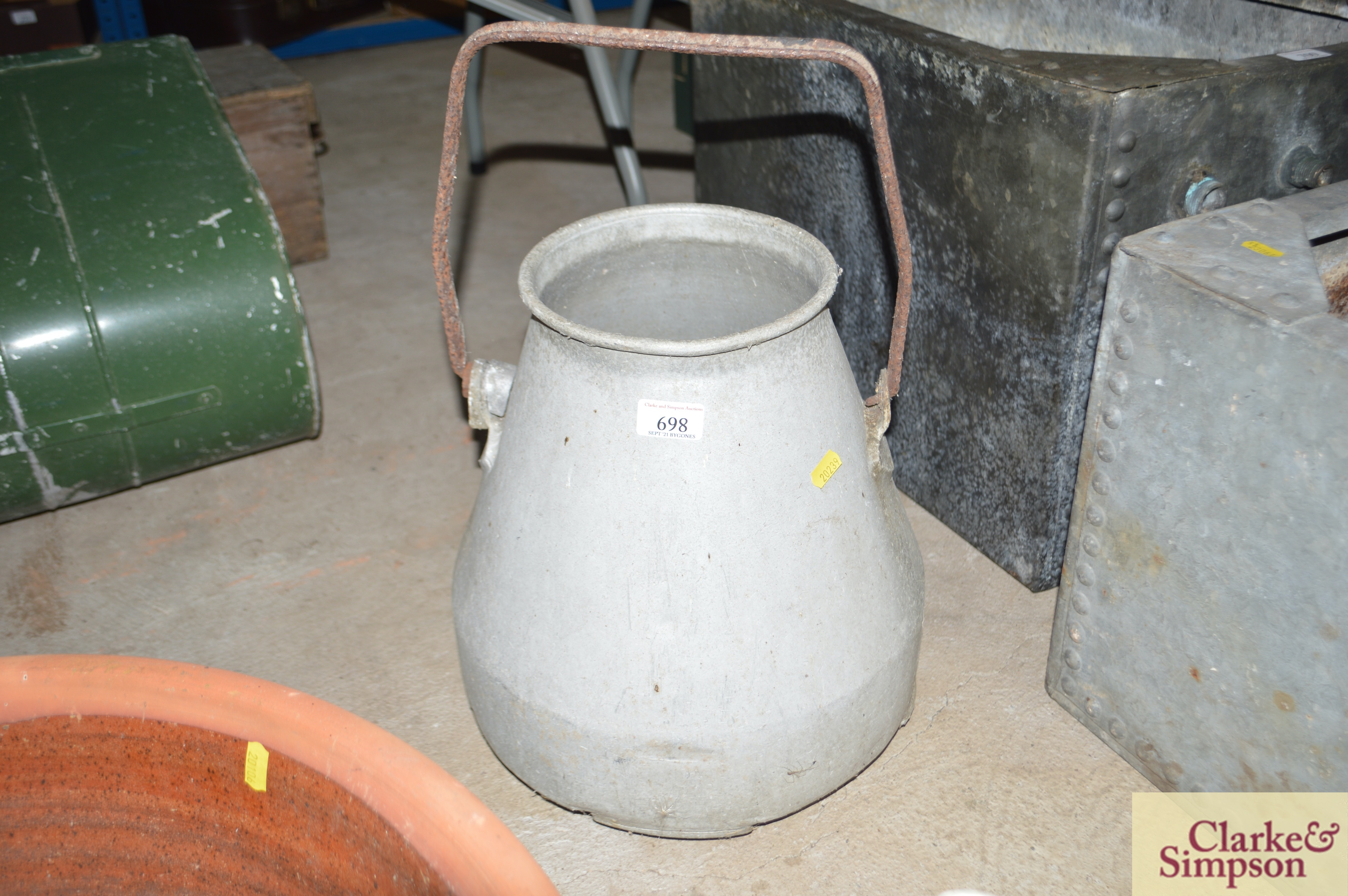 A milk churn with swing handle and another with p - Image 5 of 7