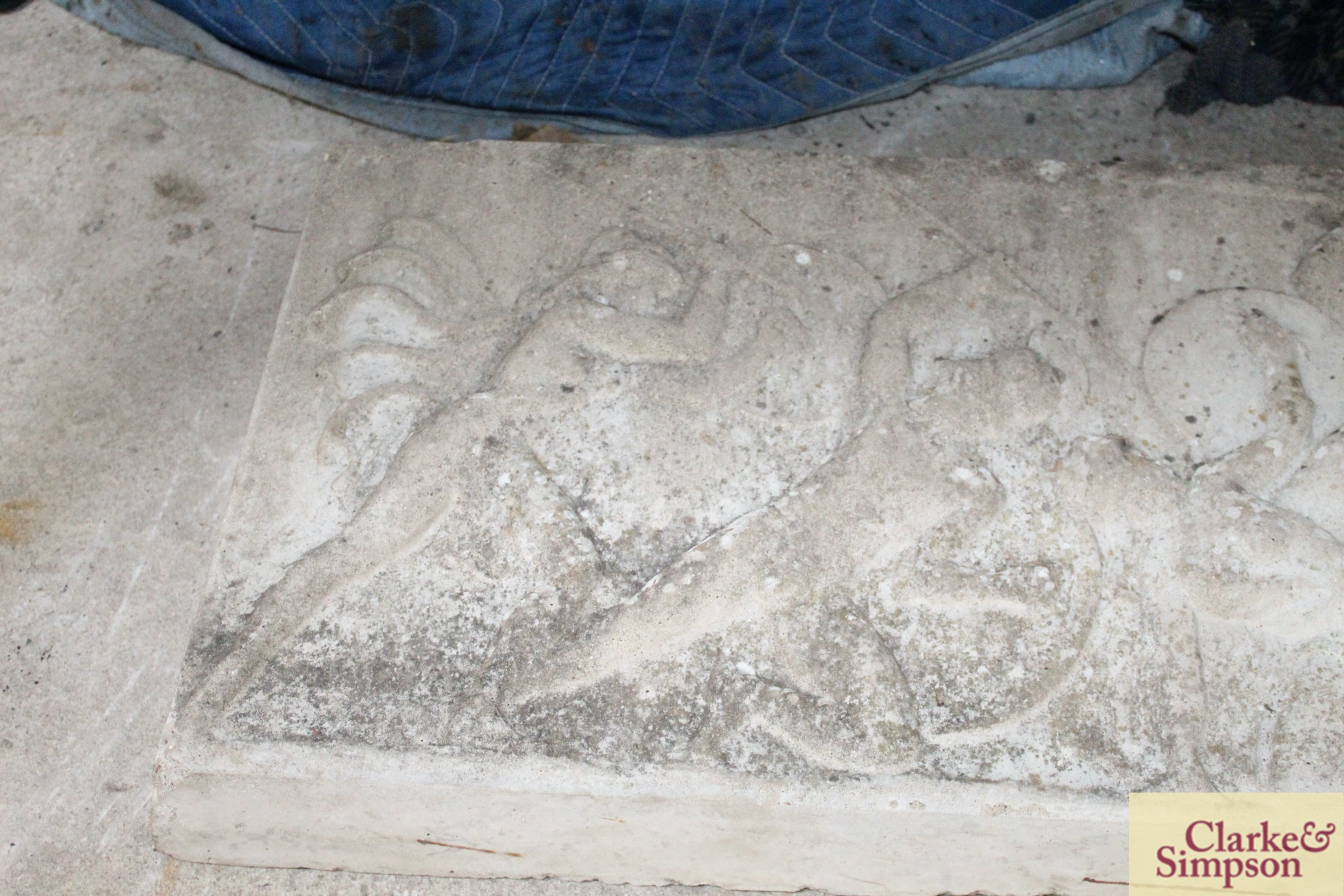 A composition decorative garden panel in the Roman manner - Image 2 of 4