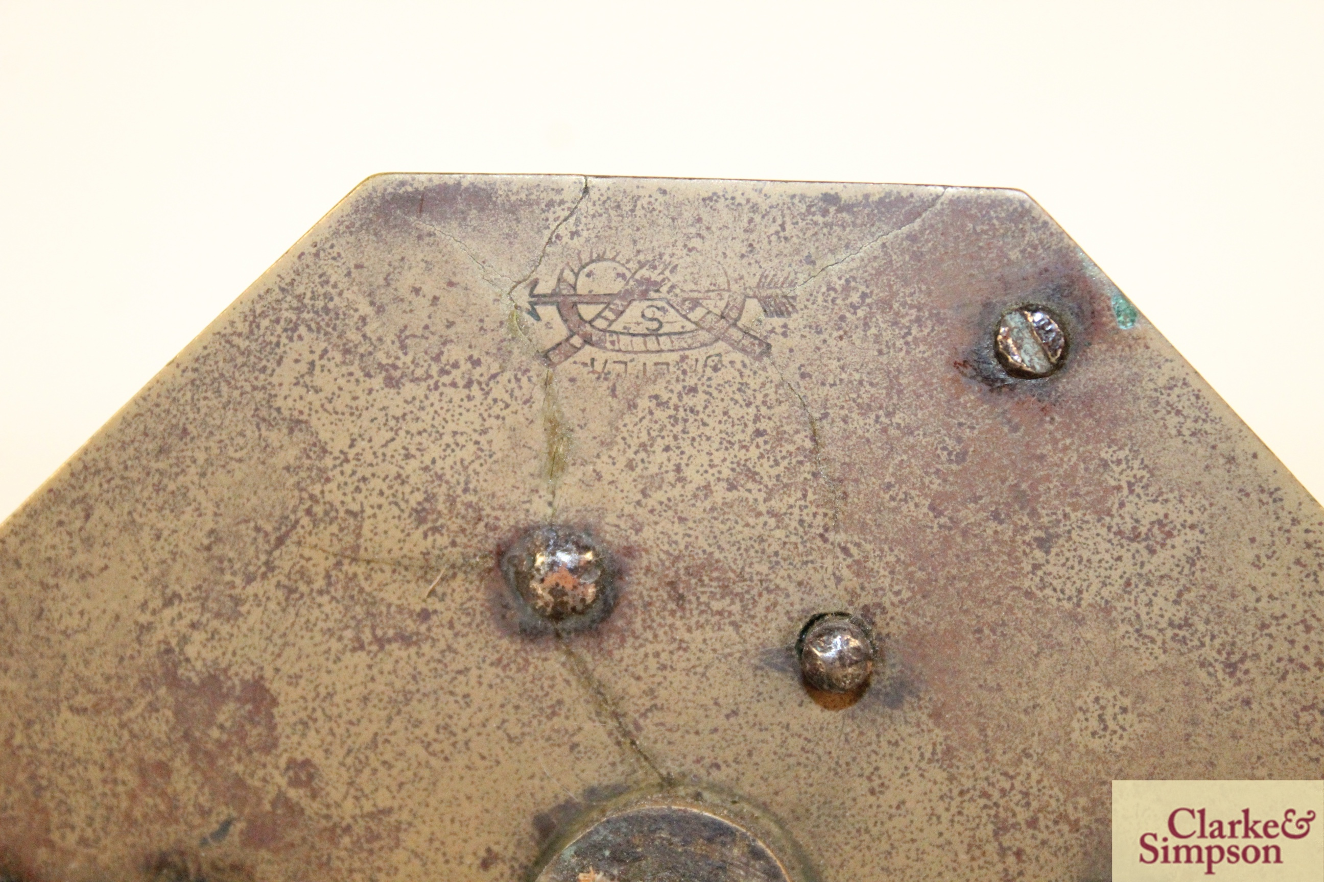 Two 19th Century downhearth brass clockwork bott - Image 4 of 4