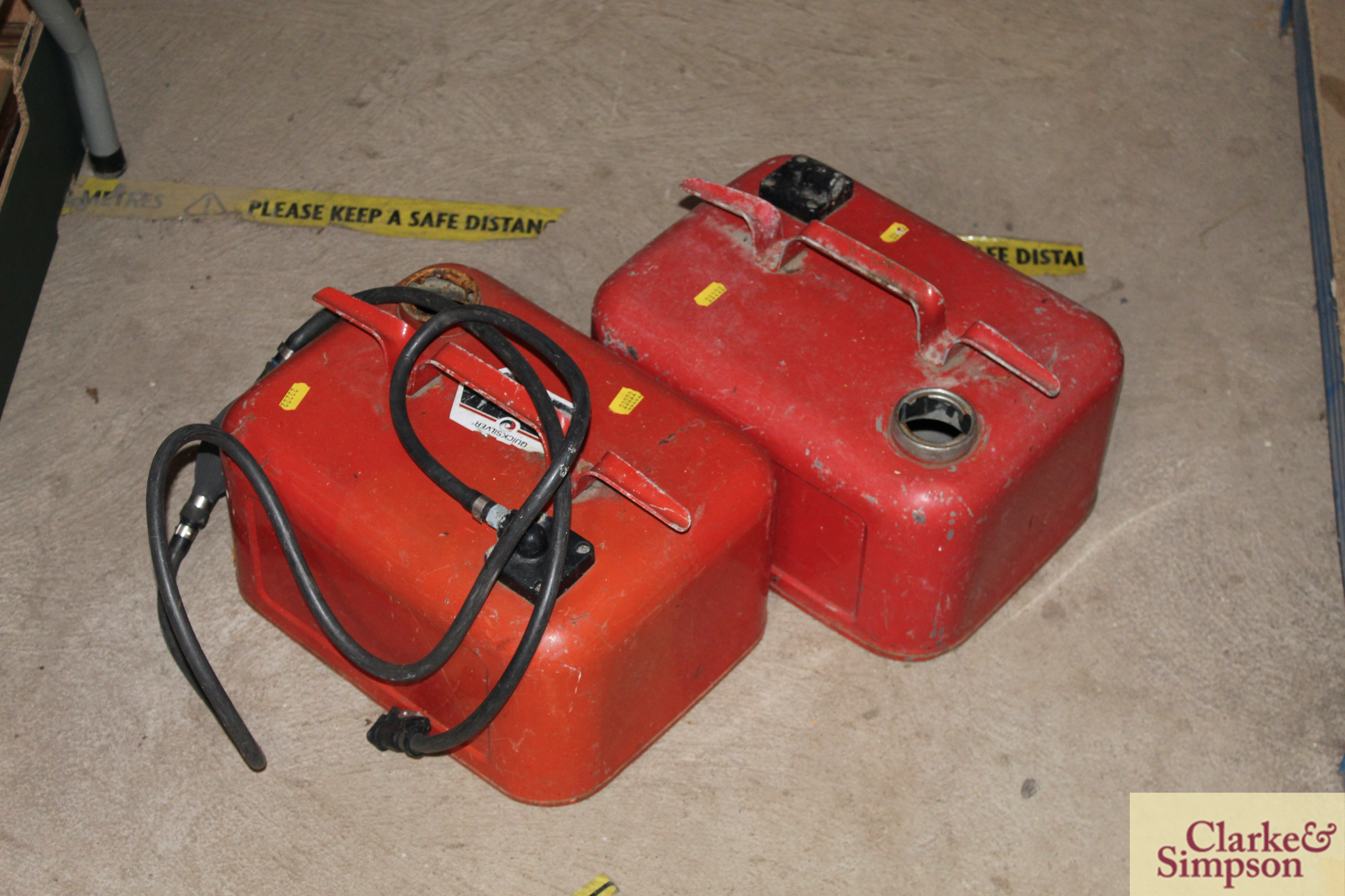 Two boat fuel cans - Image 2 of 2