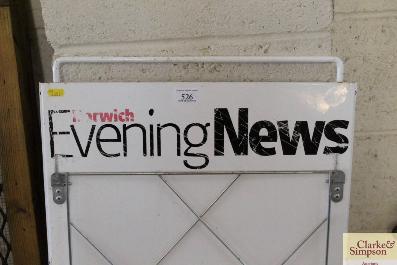 An enamel newspaper advertising stand for The Norw - Image 2 of 5