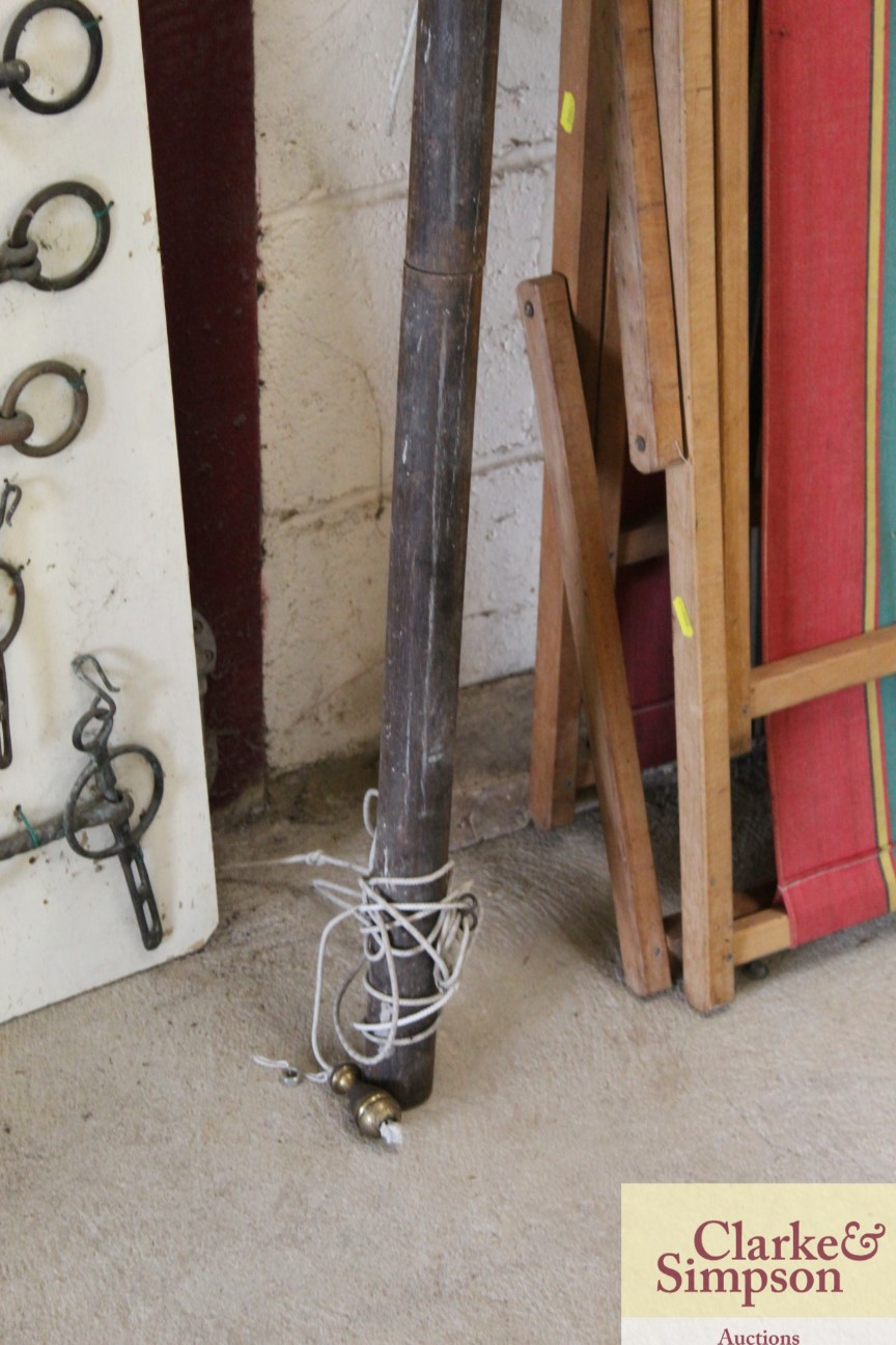 """A large vintage curtain pole approx. 119"""" - Image 2 of 5"""