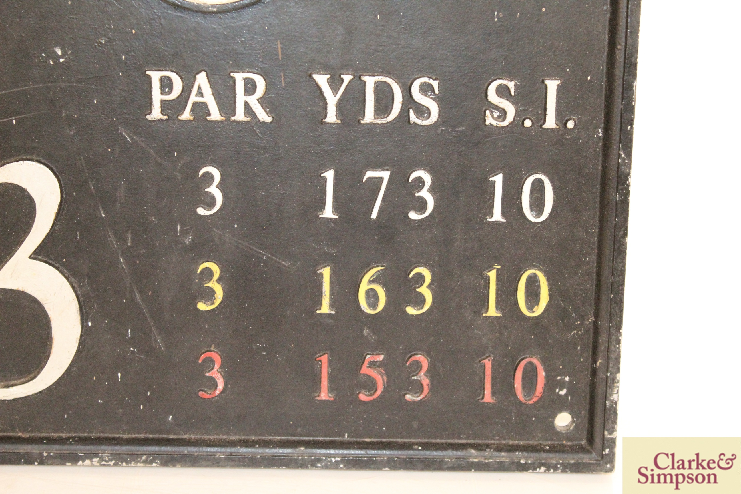"""A cast iron """"Golf Club"""" sign, approx. 15½"""" x 17"""" i - Image 4 of 10"""