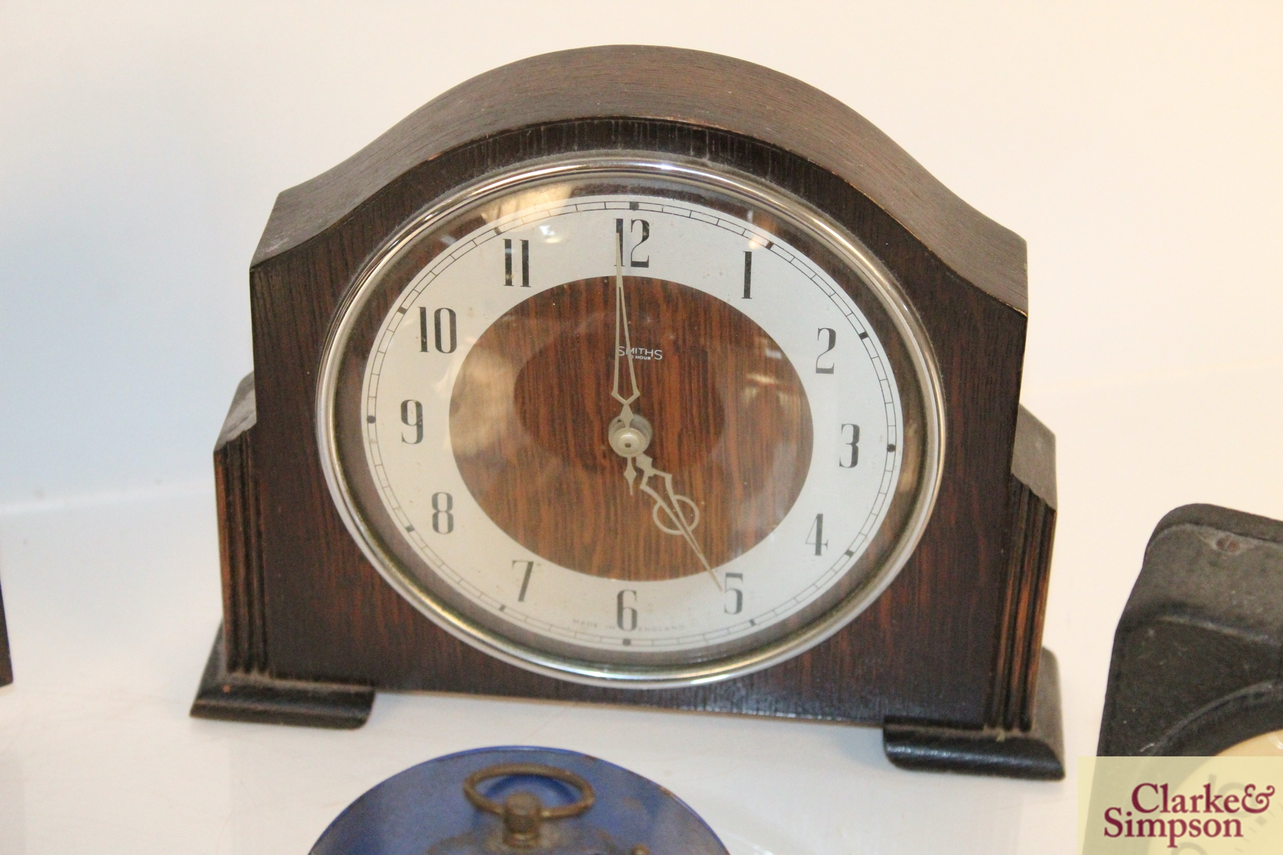 A collection of vintage clocks including a war ala - Image 5 of 7