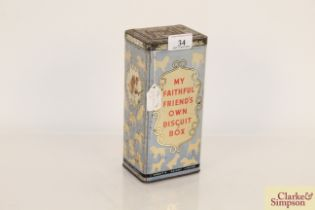 "A circa. 1930's Spratts dog Biscuit tin ""My Faithf"