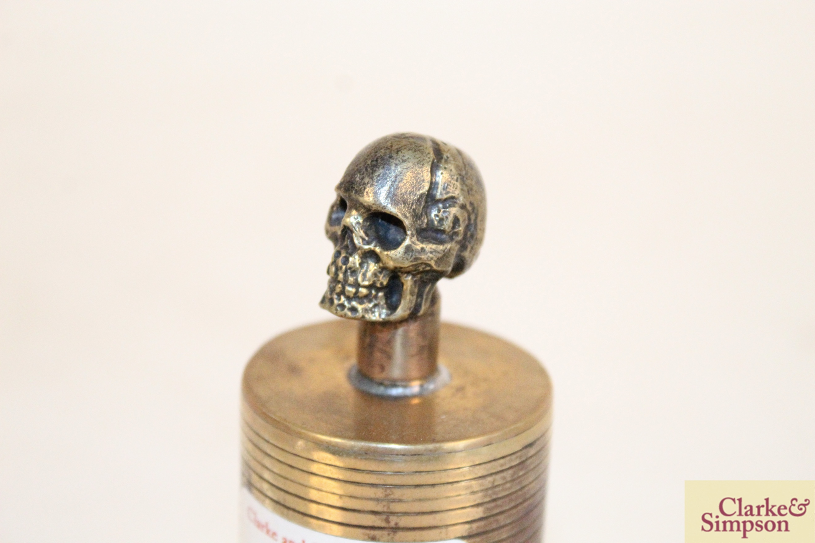 A brass Trench Art Poison bottle - Image 5 of 5