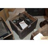 A box of vintage radio tuners