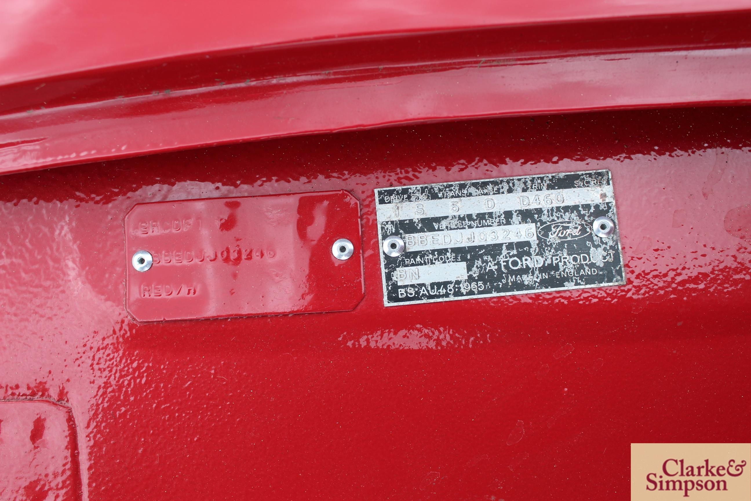 Ford Capri MK1 1300. Registration XBJ 188G. Date o - Image 41 of 65