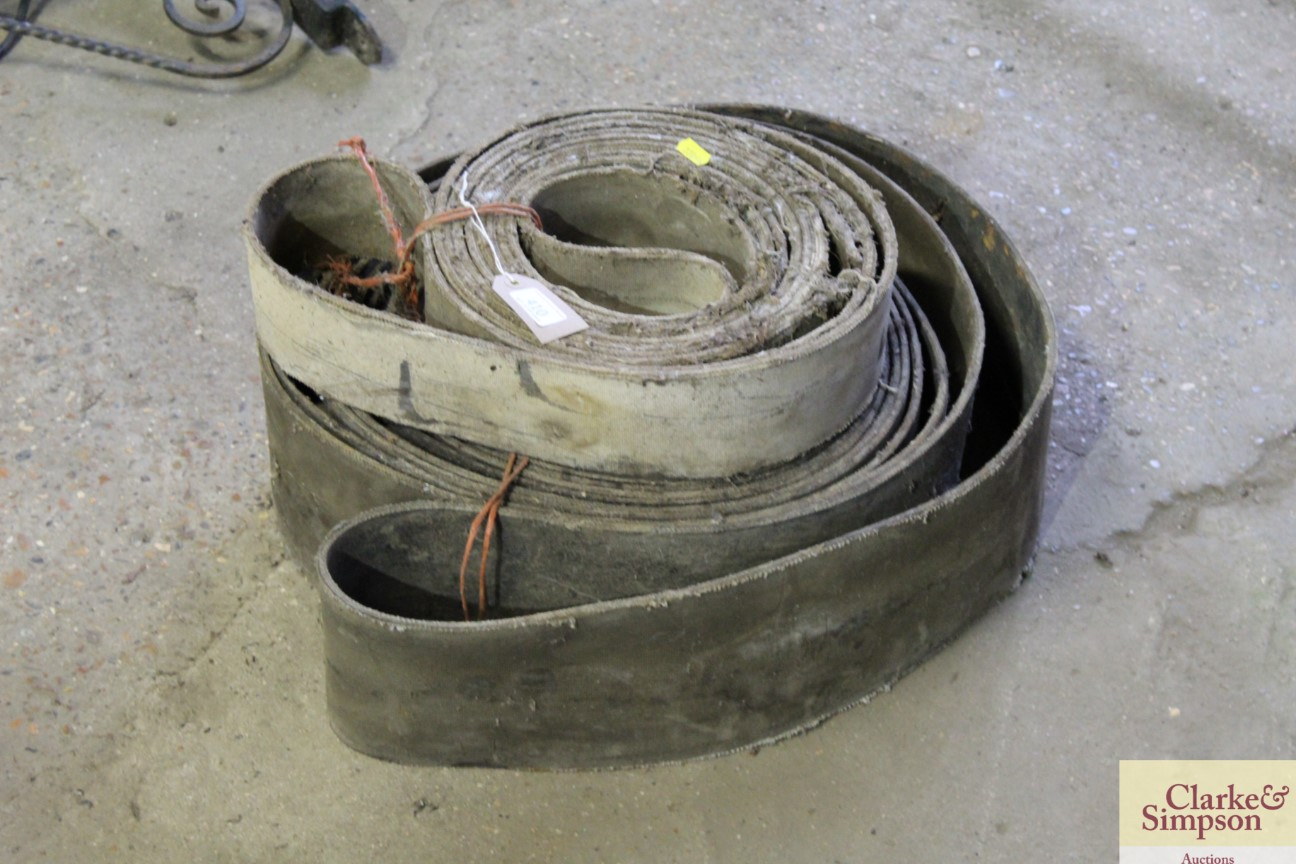 Two vintage flat pulley belts - Image 2 of 3