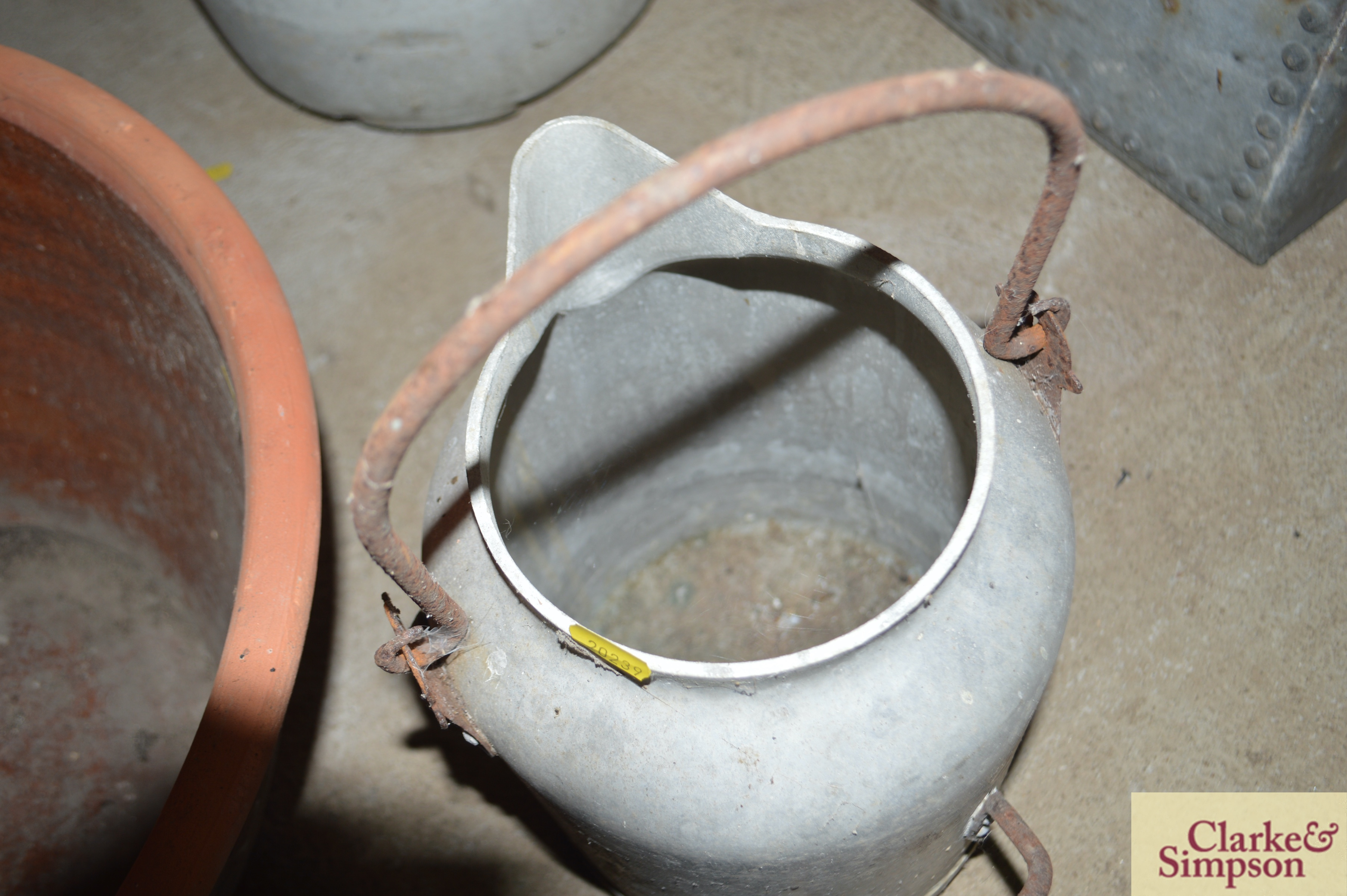 A milk churn with swing handle and another with p - Image 4 of 7