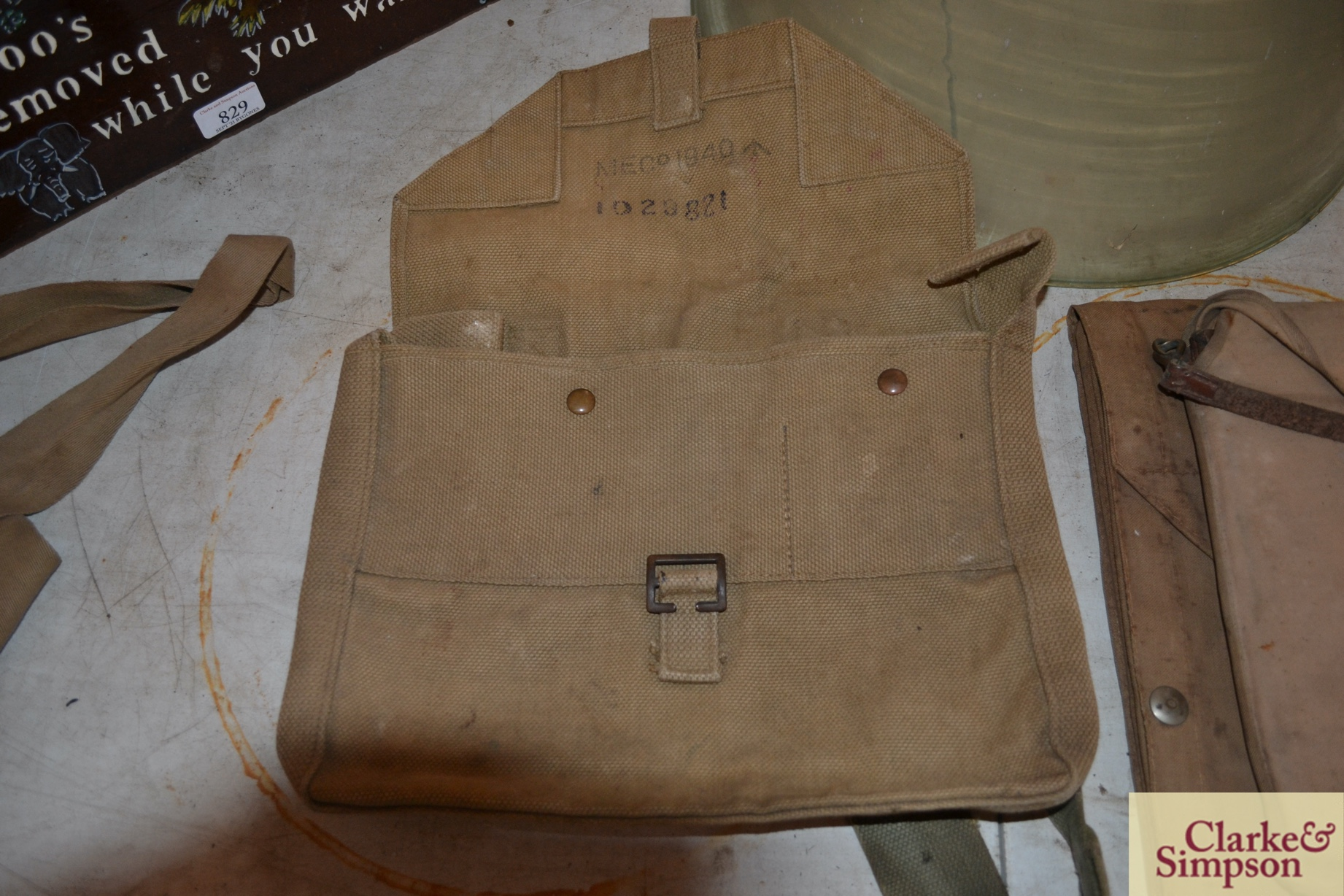 Two ex-war department canvas carrying bags - Image 2 of 7