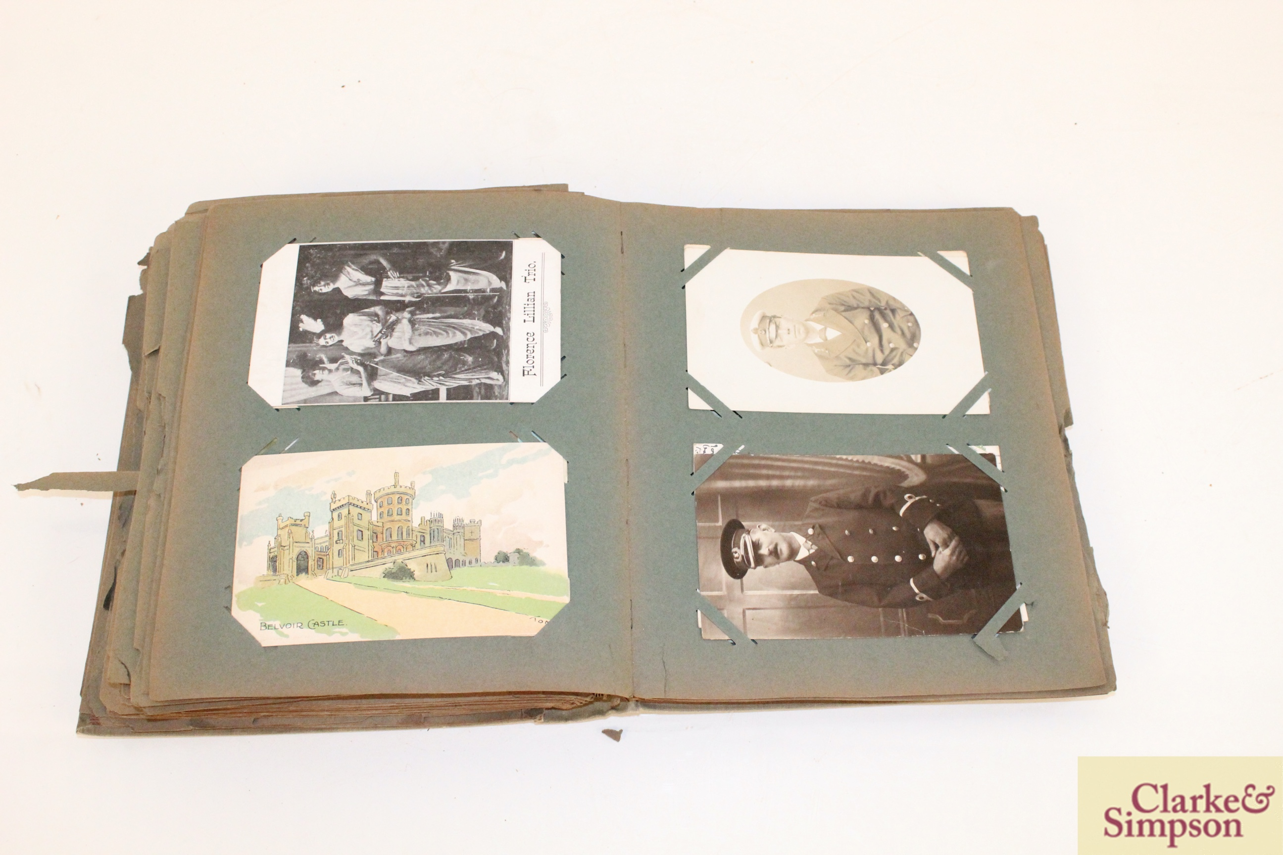 An early 20th Century post-card album containing a - Image 4 of 4