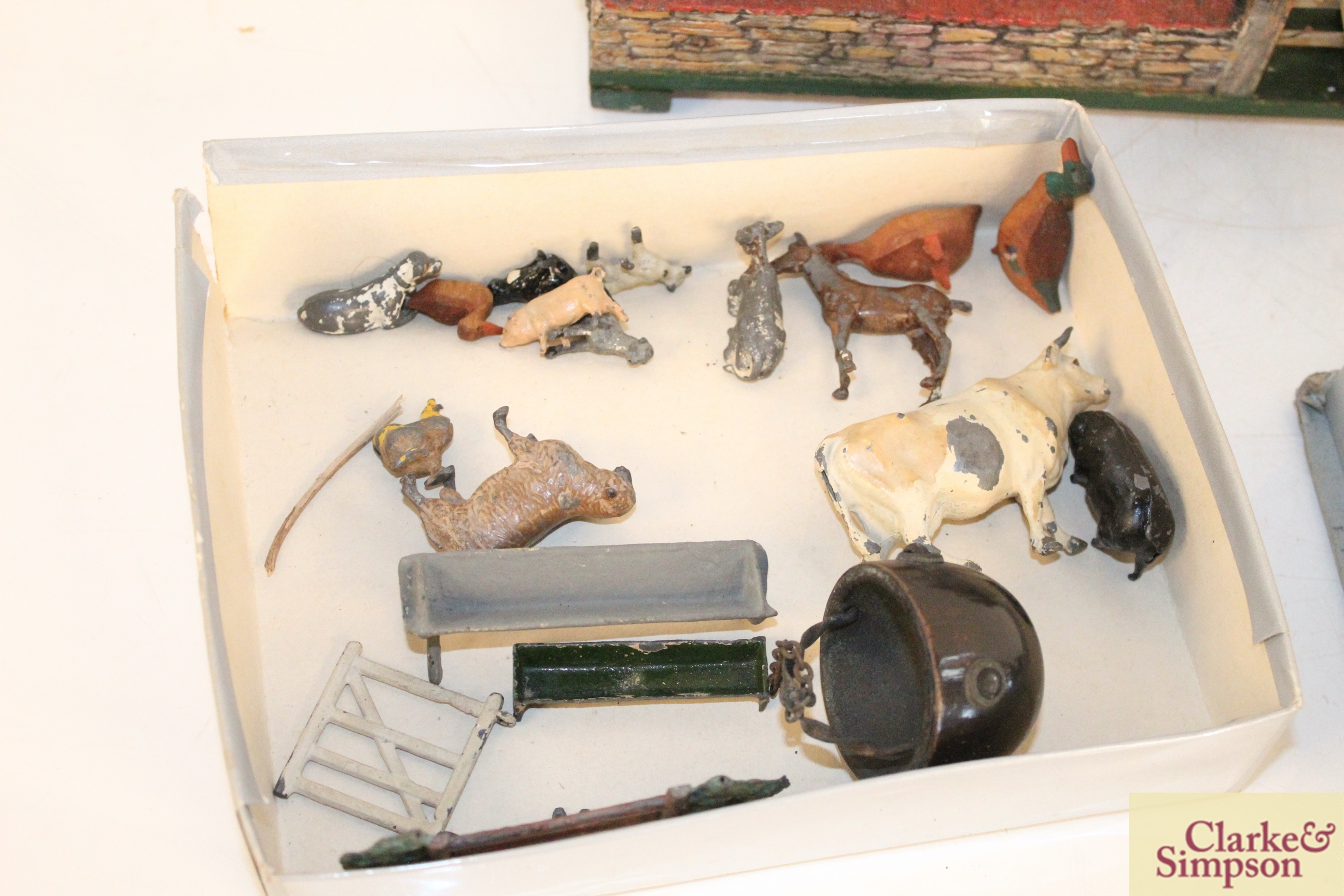 A toy farmyard and a quantity of model lead animals an - Image 8 of 8