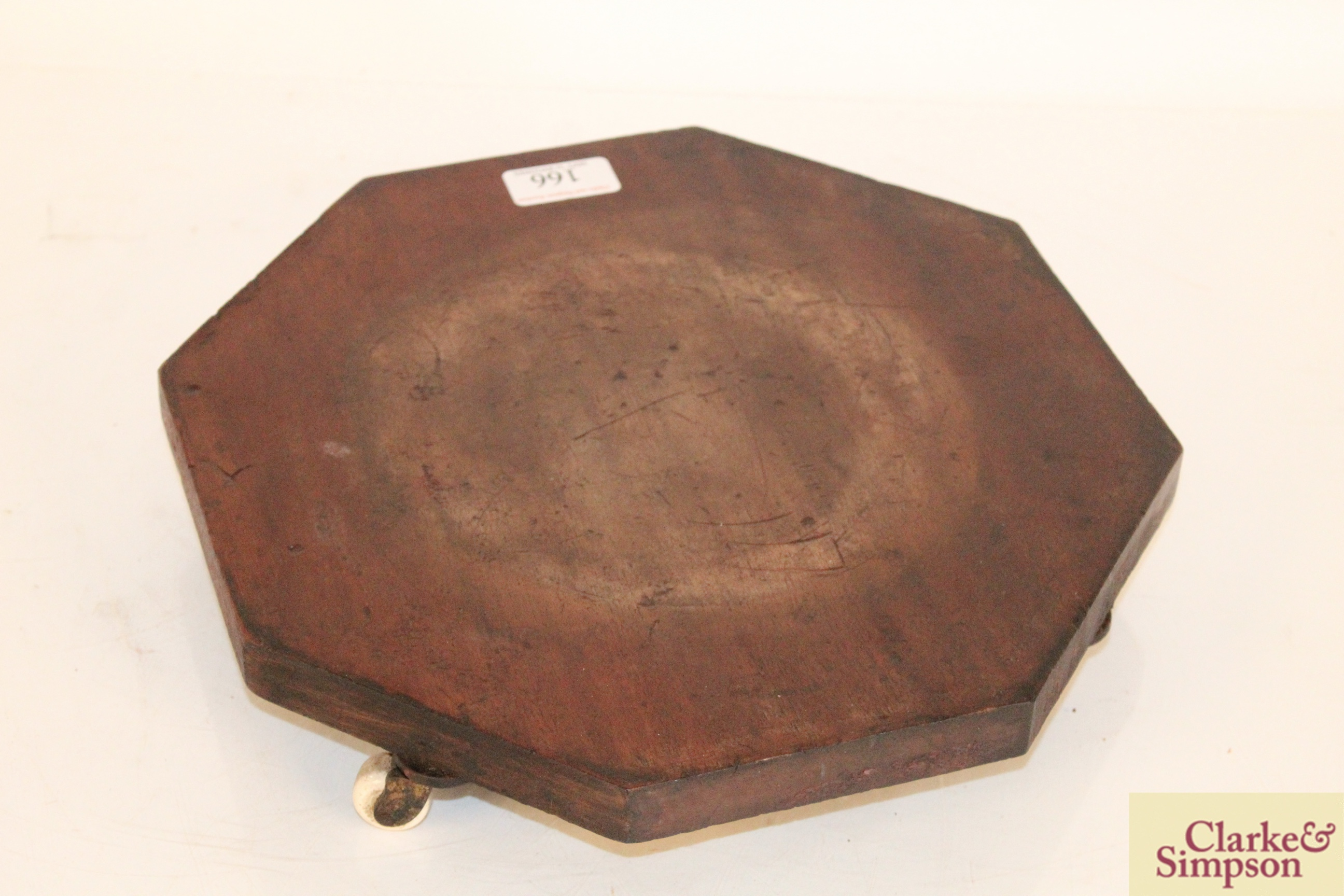 An early 19th Century octagonal cheese coaster on f - Image 2 of 4