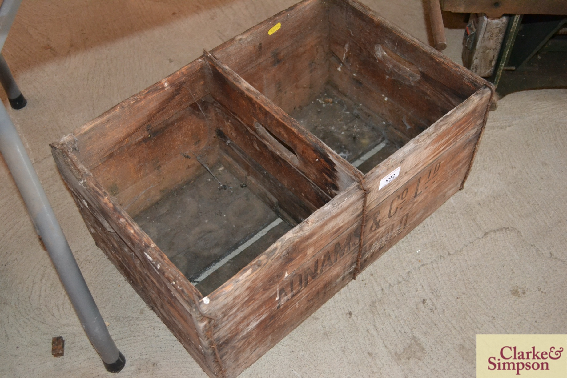 An Adnams & Co. Ltd. Southwold advertising crate - Image 2 of 2