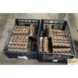 Two trays of glazed pottery rope twist garden edgi