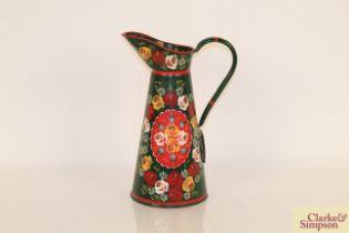 A bargeware decorated jug