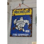 """A """"Michelin Tyre Services"""" enamel advertising sign"""