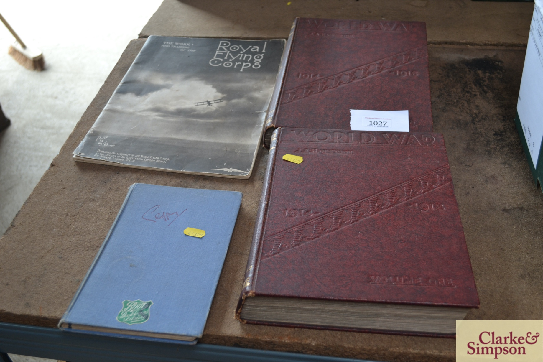 Two volumes of World War 1914-1918, The Royal Flyi