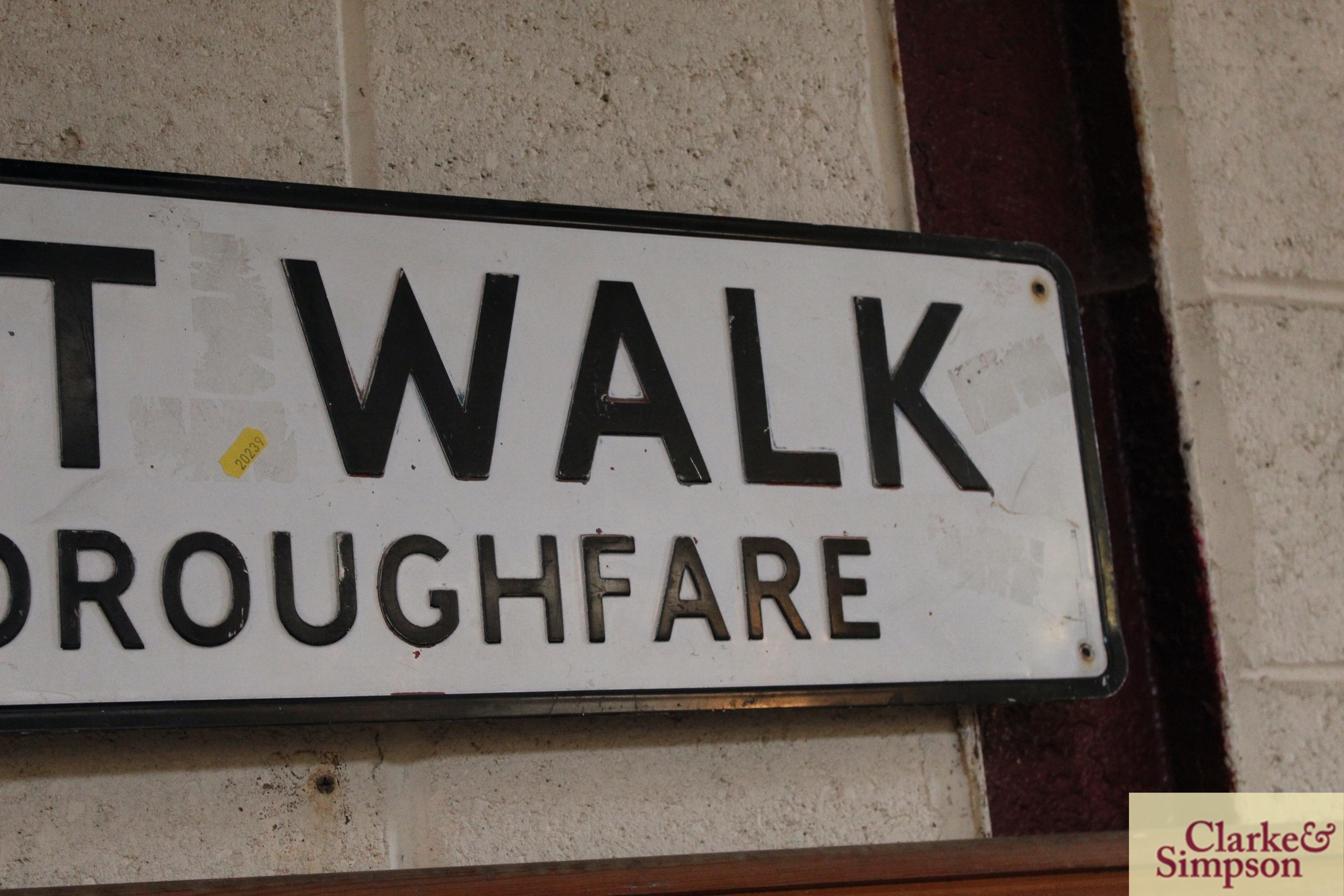"A metal street sign ""Elmhurst Walk, Leading To Tho - Image 4 of 4"
