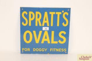 "A Spratt's Ovals enamel advertising sign ""For Doggy"