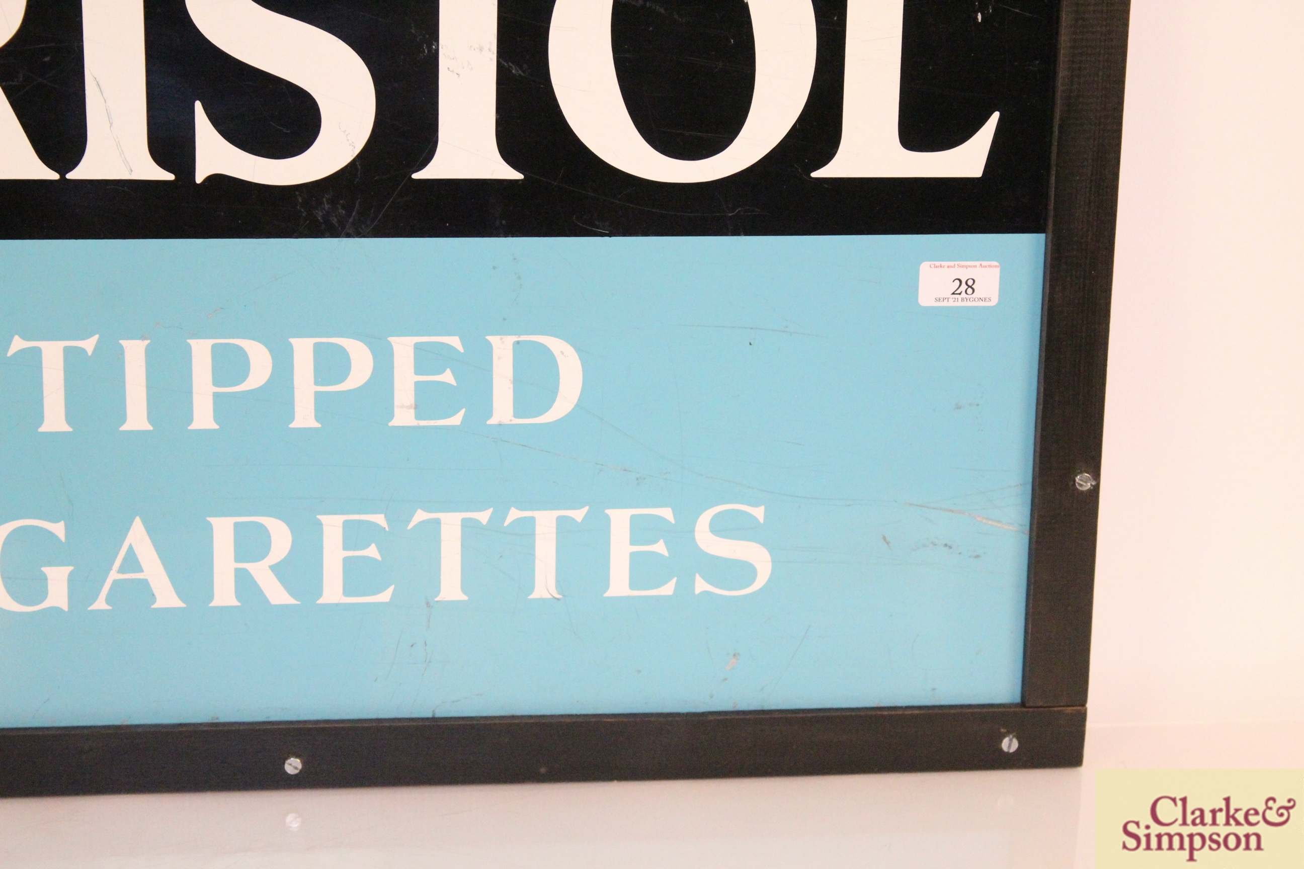"""A """"Bristol Tipped Cigarettes"""" enamel advertising sign, - Image 4 of 5"""